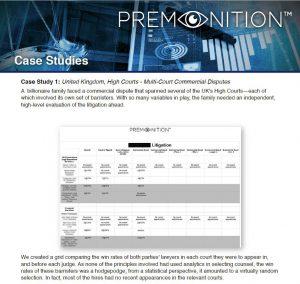 Premonition Case Studies