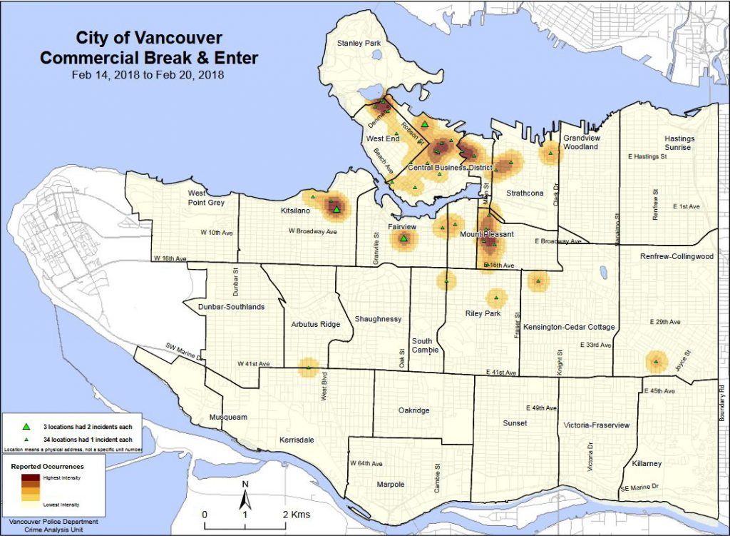 Vancouver heat map